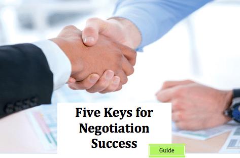 Five Keys to Negotiation Success ebook cover
